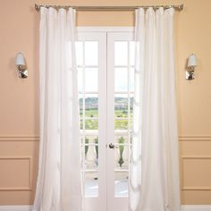 Found it at Wayfair - Signature Lace French Linen Pleated Single Curtain Panel