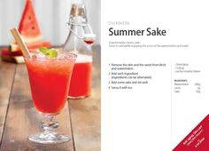 #Kuvings #Cocktail #Recipe - #Summer #Sake with Whole Slow #Juicer #CS600