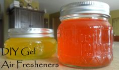 Step-by-step instructions for making your own easy gel air fresheners. Make in all your favorite scents!