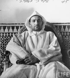 Portrait of the Sultan of Morocco Mohamed Ben Youssef 1943