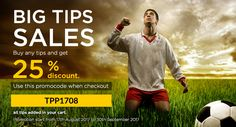 #betfame BiG Tips Sales!! Enjoy 25% on all tips purchase. Grab your soccer tips now and start earning big in soccer #betting #soccertips