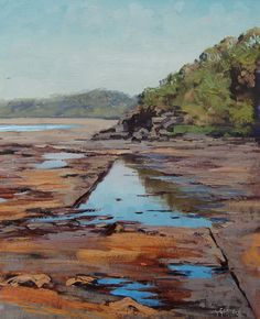 JERVIS BAY Beach Oil Painting Listed Artist SEASCAPE Painting Artwork by Gercken