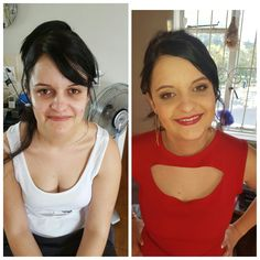 Before and after Hair and make up: Huidrie Marais