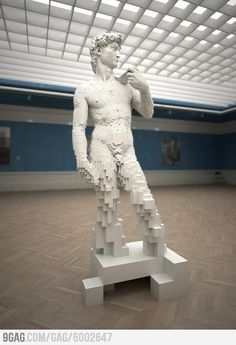 Michelangelo made from Lego