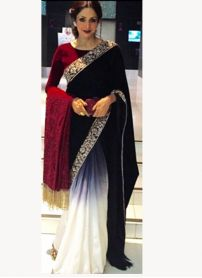 Kmozi Latest Designer Black and White Saree..  http://www.kmozi.com/bollywood-replica/bollywood-saree/kmozi-latest-designer-black-and-white-saree-825