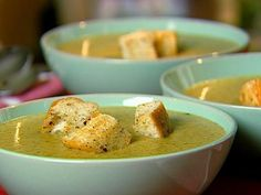 Only a bit of cream is needed to enrich this silky yet hearty soup. It's filled with vegetables and topped with homemade croutons.