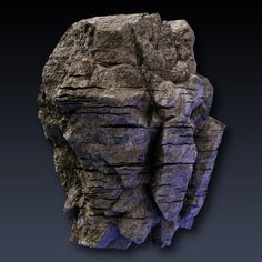 rock face cliff blocks 01 3d model max obj fbx mtl 2