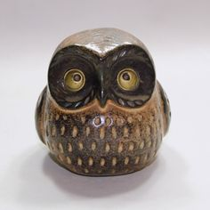 Owl Vintage Ceramic Figurine by thewrenskeep on Etsy