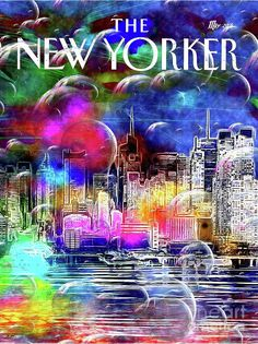 Vintage Mixed Media - New York Bubbles by Daniel Janda