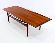 Danish Modern Solid Teak Coffee Table Designed by Grete Jalk 2