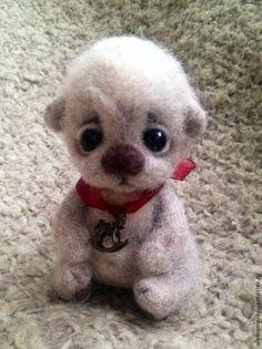 Купить Мишутка (нашел дом) - бежевый, мишка, мишутка, медвежонок, милый подарок, шерсть, кардочёс