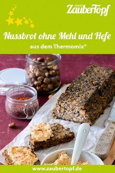 Mehlfreies Nussbrot mit Feigen-Senf-Creme Banana Bread, Cereal, Desserts, Breakfast, Food, Gluten, Breads, Fast Recipes, Tailgate Desserts