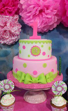 Green & Pink Cake