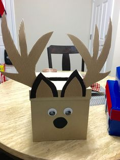 Little Deer Valentine's Day box that I made for my son Jack