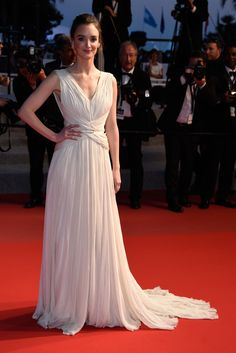 Charlotte Le Bon wears ELIE SAAB Haute Couture Spring Summer 2014 to the Premiere of 'Inside Out' during the 68th annual Cannes Film Festival.
