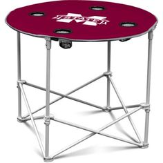 Logo Chair Ncaa Mississippi State Round Table, Red