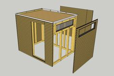 DIY: garden shed - Development plan], cube with flat roof, a window / light band, a sliding door to make the best use - Garden Huts, Garden Shed Diy, Diy Shed, Diy Garden Decor, Balcony Furniture, Diy Outdoor Furniture, Succulents In Containers, Succulents Diy, Pergola