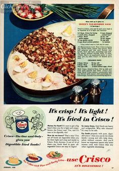 Crisco's Pan-Browned Hash 1950