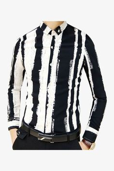 Black Striped Long Sleeve Shirt. Free 3-7 days expedited shipping to U.S. Free first class word wide shipping. Customer service: help@moooh.net