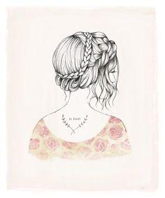 Esta impresión 10 X 12 es reproducido de una ilustración original que hice con lápiz y acuarela.    Impreso en papel blanco de alta calidad -