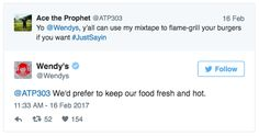 When they refused to listen to your song: | Community Post: 15 Times The Wendy's Twitter Was The Most Savage