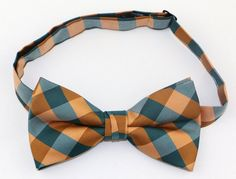 OCIA® Mens Plaid Woven Pre Tied Handmade Bow Tie - ND002 at Amazon Men's Clothing store: