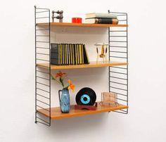 1960s String-shelf, elm, design: Nisse Strinning - Nisse Strinning - String