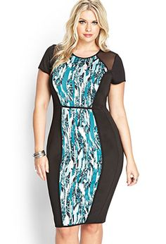 Abstract Scuba Knit Dress | FOREVER 21 - 2000070124