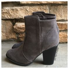 """Style and Flare"" Always Faithful Grey Heel Bootie Boots from Ashlyn's by CG. Saved to Booties and Boots! Booties Outfit, Grey Booties, Bootie Boots, Apple Bottom Jeans, How To Wear Ankle Boots, Grey Heels, Cute Heels, Cool Boots, Fashion Boots"