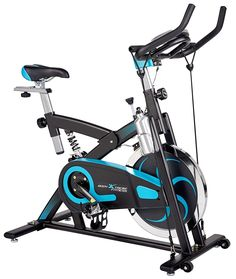 """"""" ✔ Newly designed Semi-Commercial exercise bike with heavy-duty frame. Ideal for all fitness lifestyles, perfect to achieve serious results at home or in the office! ✔ Equipped with foot straps, comfortable ergomic seat, tension knob and heavy duty 40lb Flywheel for a smoother ride in the comfort of your own home ✔ Super strength Resistance bands are installed at the front end of bike to support upper body conditioning (removable) ✔ Aluminium water bottle holder is perfect for hydrating…"""