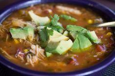Paleo Zone Diet ~ Mexican Chicken Fajita Soup