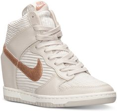 new product 0d0c1 a2b40 Nike Dunk Sky Hi Sneakers in Light Bone Metallic Red Bronze as seen on  Sofia Vergara