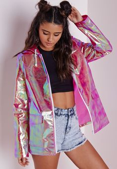 @isabellegeneva Holographic Rain Mac Pink - Coats and Jackets - Rain Macs - Missguided