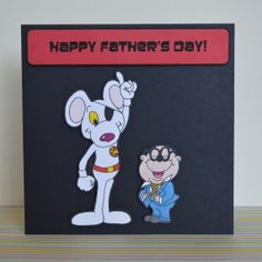 Danger Mouse & Penfold Father's Day Card Hand Drawn by ClazaInk, £3.00