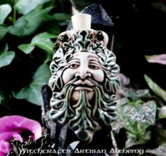 Old European Master Crafted Magical Arts™ Magical Jewelry, Bottle Necklace, Oil Bottle, Clay Beads, Alchemy, Magick, Lion Sculpture, Artisan, Statue