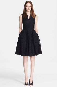 Burberry London Darted Lace Fit & Flare Dress available at #Nordstrom