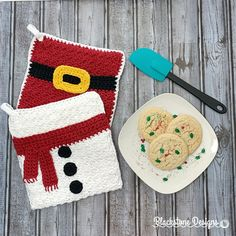 Snowman Belly Pot Holder - digital PDF crochet pattern ONLY - Winter, Christmas, Holidays, Hot Pad, Gift Crochet Christmas Hats, Crochet Snowman, Christmas Crochet Patterns, Holiday Crochet, Easy Crochet Patterns, Crochet Ideas, Crochet Santa, Potholder Patterns, Christmas Sewing