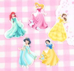 Extra cute and colourful Disney Princess flat back cabochon embellishments. These laser printed #cabochons are perfect for all #kinds of crafts.