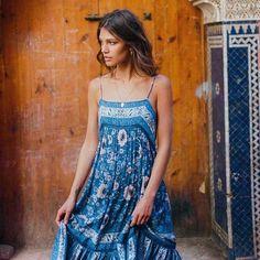 8a224a61df8 Boho Inspired Floral Print Adjustable Strap Dress. Beach DressesCasual DressesSexy  DressesSummer ...