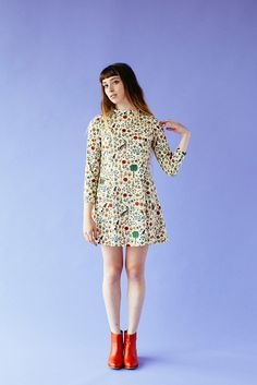 Passion Dress Illuminated print Samantha Pleet Fall 2014