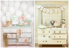 love these pastel toned wedding dessert tables  #wedding #dessert #tables