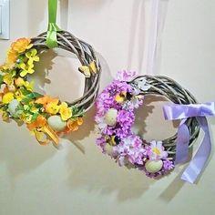 #wianki #wiosna #Wielkanoc #dekoracje #ręcznie_robione #diy #kwiatki #handmade #spring #easter #decorations #design #stroiki #wreath by robotkireczne