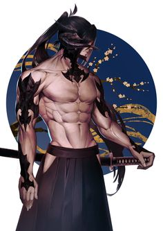 Final Fantasy XIV Fan Art Au Ra ninja || LIKE OMG! Da men in dis game are fiiiine.... can't lie...