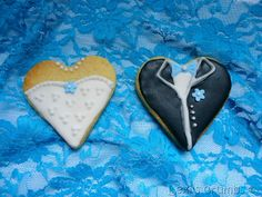 Iced wedding biscuits www.lexiscrumbs.com
