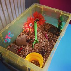 I love making sensory bins for the Little Tots, they're great fun for all ages and provide lots of learning opportunities and open-ended play. This month we are are focussing on Spring and the garden now the warmer weather is here (sort of) s...