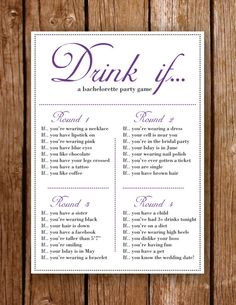 Printable Bachelorette Party Game