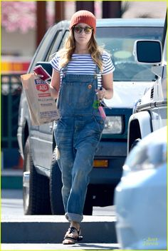Ashley Tisdale Flashes Some Skin with Trendy Overalls! | ashley tisdale flashes some skin with trendy overalls 08 - Photo