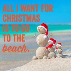 It is never too early to start thinking about holiday gift giving! I would love to receive a beach vacation. Beach Christmas, Coastal Christmas, Xmas, Tropical Christmas, Merry Christmas, Christmas Sayings, Beach Holiday, Christmas Humor, Holiday Fun