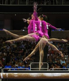 Multiple-exposure Photos of Olympic Gymnasts - team USA for the gold!