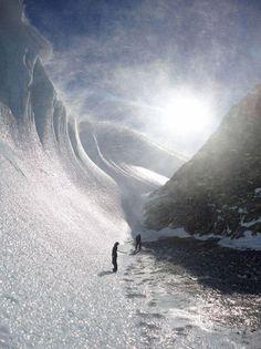 Vagues gelées en Antarctique